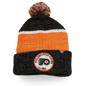 Philadelphia Flyers Holcomb Black/Orange/White Pom Knit Winter Beanie