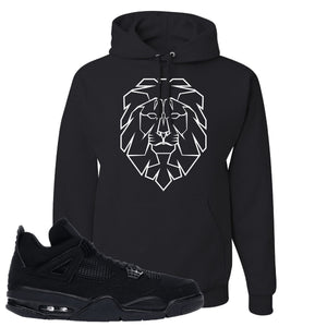 Air Jordan 4 Black Cat Cyber Lion Black Made to Match Pullover Hoodie