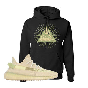 Yeezy Boost 350 V2 Flax Hoodie | Black, All Seeing Eye
