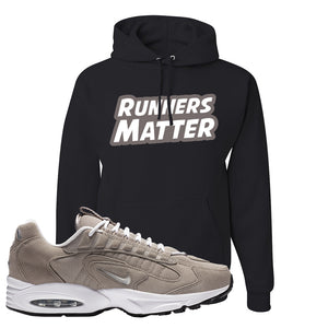 Air Max Triax 96 Grey Suede Hoodie | Runners Matter, Black