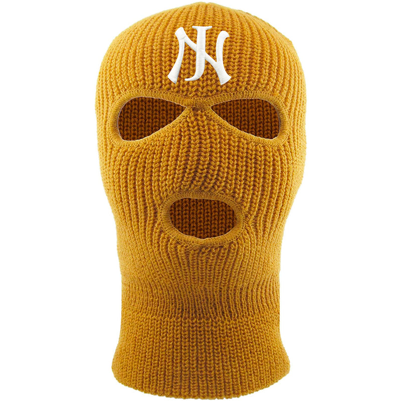 Embroidered on the forehead of the timberland new jersey ski mask is the NJ logo