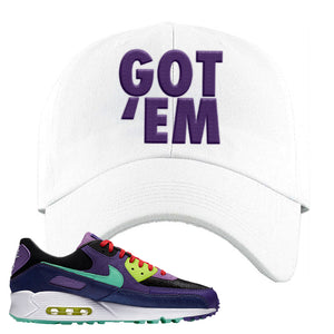 Air Max 90 Cheetah Dad Hat | Got Em, White