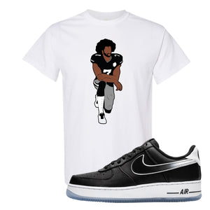 Colin Kaepernick X Air Force 1 Low Kaepernick Fist Kneeling White Sneaker Hook Up T-Shirt