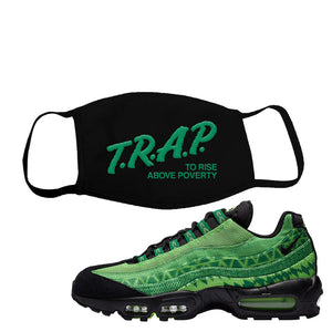 Air Max 95 Naija Face Mask | Trap To Rise Above Poverty, Black