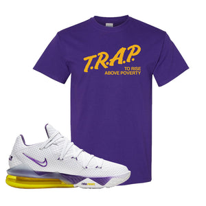 Lebron 17 Low Lakers T Shirt | Purple, Trap To Rise Above Poverty
