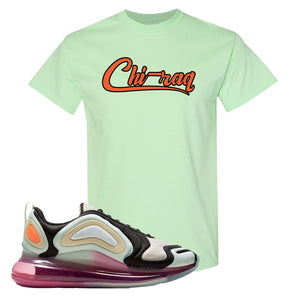 Air Max 720 WMNS Black Fossil Sneaker Mint Green T Shirt | Tees to match Nike Air Max 720 WMNS Black Fossil Shoes | Chiraq