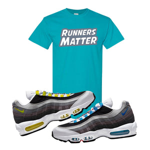 Air Max 95 QS Greedy T Shirt | Tropical Blue, Runners Matter