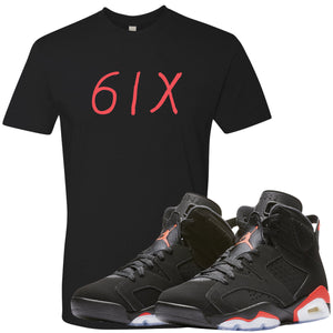 The Jordan 6 Infrared Sneaker Matching Tee is custom designed to perfectly match the retro Jordan 6 Infrared sneakers from Nike.