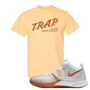 Kyrie Flytrap 3 Summit White T Shirt | Trap To Rise Above Poverty, Yellow Haze
