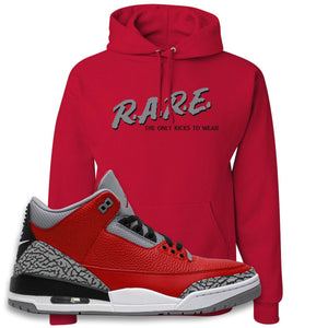 Jordan 3 Red Cement Hoodie | True Red, Rare