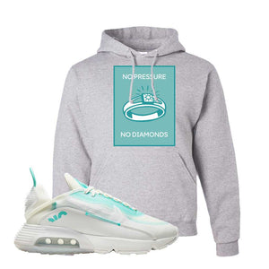 Air Max 2090 Pristine Green Hoodie | Ash, No Pressure No Diamond