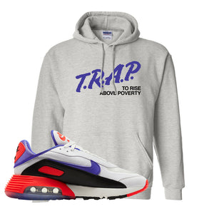 Air Max 2090 Evolution Of Icons Hoodie | Trap To Rise Above Poverty, Ash