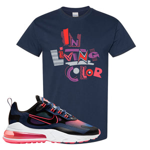 Air Max 270 React WMNS Storm Pink T Shirt | In Living Colors, Navy