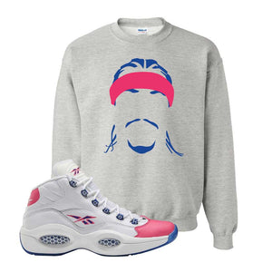 Question Mid Pink Toe Sweatshirt | Headband Corn Rows, Ash