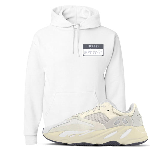 Yeezy Boost 700 Analog Sneaker Match Hello My Name Is Hype Beast Drake White Hoodie