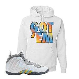 Lil Posite One Rainbow Pixel Hoodie | White, Got Em