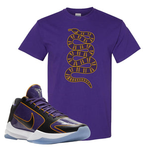 Kobe 5 Protro 5x Champ T Shirt | Coiled Snake, Deep Purple