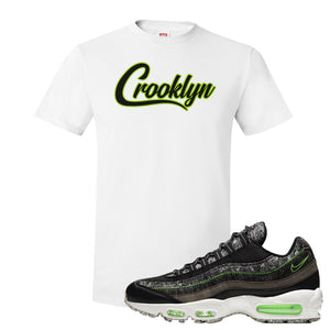 Air Max 95 Black / Electric Green T Shirt | Crooklyn, White