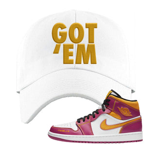 Air Jordan 1 Mid Familia Dad Hat | Got Em, White