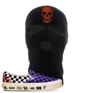 Vans Slip On Venice Beach Pack Ski Mask | Black, Skull