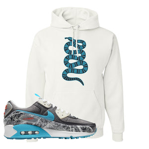 Air Max 90 Rice Ball Hoodie | Coiled Snake, White