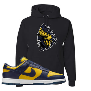 SB Dunk Low Michigan Hoodie | Indian Chief, Black