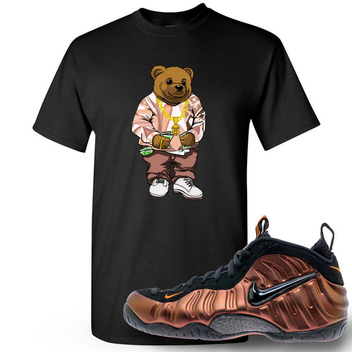 Foamposite Pro Hyper Crimson Sneaker Match Polo Biggie Bear Black T-Shirt