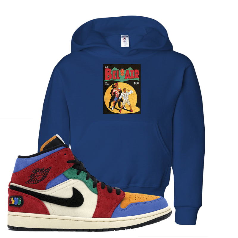 Jordan 1 X Blue The Great Kid's Hoodie | Royal Blue, Bel Air