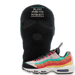 Air Max 95 Black History Month Sneaker Black Ski Mask | Winter Mask to match Air Max 95 Black History Month Shoes | Playa From The Himalaya