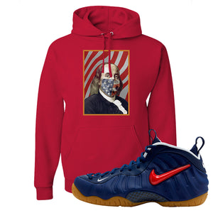 Air Foamposite Pro USA Hoodie | Red, Franklin Mask