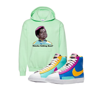 Blazer Mid Big Kids Hoodie | Mint Green, Watchu Talking Bout