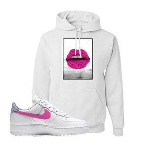 Air Force 1 Low Fire Pink Hoodie | White, Rose Lips