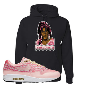 Air Max 1 Strawberry Lemonade Pullover Hoodie | Oh My Goodness, Black
