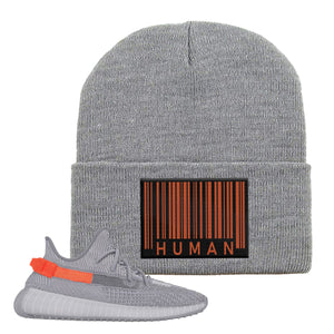 Yeezy Boost 350 V2 Tail Light Sneaker Light Gray Beanie | Beanie to match Adidas Yeezy Boost 350 V2 Tail Light Shoes | Legit Barcode