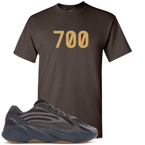 "Yeezy Boost 700 Geode Sneaker Hook Up ""700"" Dark Chocolate T-Shirt"