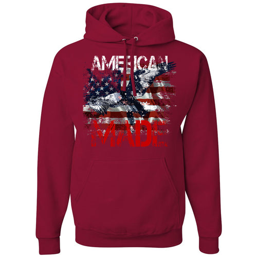 Standard Issue American Made Bald Eagle Red Grunt Life Hoodie