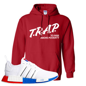 NMD R1 Seoul Hoodie | Red, Trap To Rise Above Poverty
