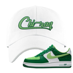 Air Force 1 Low St. Patrick's Day 2021 Dad Hat | Chiraq, White