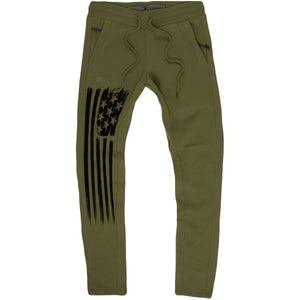 Standard Issue Don't Tread On Me Military Green Jogger Sweatpants