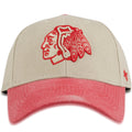 Chicago Blackhawks '47 Brand Bone / Red Adjustable Dad Hat