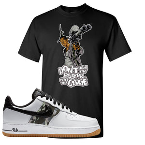 Air Force 1 Low Camo T Shirt | Don't Hate The Playa, Black