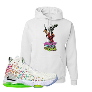 Lebron 17 Air Command Force Hoodie | Don't Hate The Player, White
