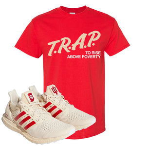 Adidas Ultra Boost 1.0 Indiana T-Shirt | Trap To Rise Above Poverty, Red