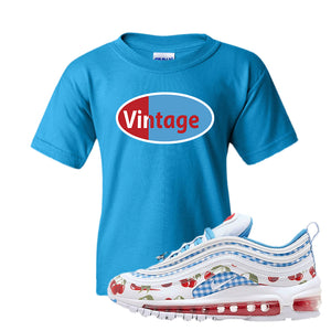 Air Max 97 GS SE Cherry Kids T-Shirt | Vintage Oval,Sapphire