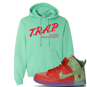 SB Dunk High 'Strawberry Cough' Hoodie | Cool Mint, Trap To Rise Above Poverty