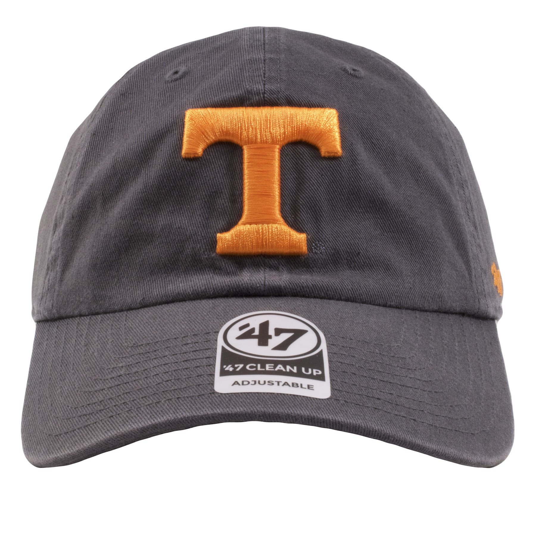 meet f7345 a5cd7 Embroidered on the front of the University of Tennessee Volunteers gray  adjustable dad hat is the