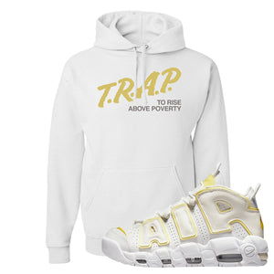 Air More Uptempo Light Citron Hoodie | Trap To Rise Above Poverty, White