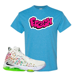 Lebron 17 Air Command Force T Shirt | Heather Sapphire, Fresh