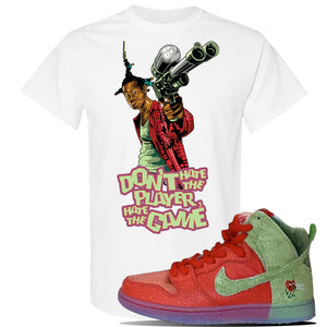SB Dunk High 'Strawberry Cough' T Shirt | White, Don't Hate The Player