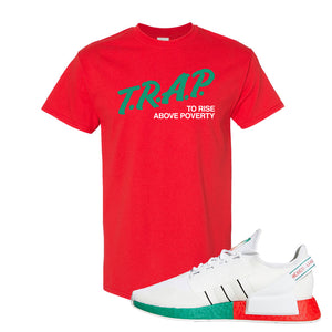 NMD R1 V2 Ciudad De Mexico T Shirt | Red, Trap To Rise Above Poverty